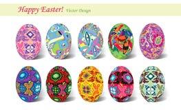 αυγά Πάσχας δέκα Στοκ φωτογραφία με δικαίωμα ελεύθερης χρήσης