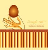 Αυγά Πάσχας διαθέσιμα Διανυσματική, ευτυχής ευχετήρια κάρτα Πάσχας Στοκ Εικόνα