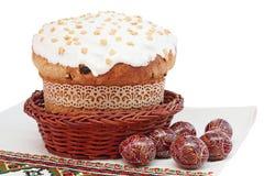 αυγά Πάσχας κέικ ξύλινα Στοκ φωτογραφίες με δικαίωμα ελεύθερης χρήσης