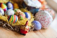 αυγά Πάσχας κέικ Στοκ Φωτογραφία