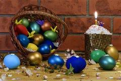αυγά Πάσχας κέικ Στοκ Εικόνες
