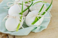 Αυγά Πάσχας και πράσινα κρεμμύδια Στοκ εικόνες με δικαίωμα ελεύθερης χρήσης