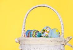 αυγά Πάσχας καλαθιών ανα&sigma Στοκ Εικόνες
