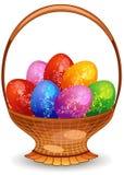 αυγά Πάσχας καλαθιών απεικόνιση αποθεμάτων