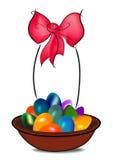 αυγά Πάσχας καλαθιών ελεύθερη απεικόνιση δικαιώματος