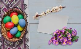 αυγά Πάσχας καρτών Στοκ Φωτογραφία