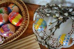 αυγά Πάσχας κλάδων Στοκ εικόνες με δικαίωμα ελεύθερης χρήσης
