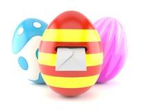 Αυγά Πάσχας με το φάκελο μέσα απεικόνιση αποθεμάτων