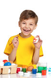 αυγά Πάσχας παιδιών Στοκ εικόνα με δικαίωμα ελεύθερης χρήσης