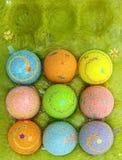 αυγά Πάσχας περίπτωσης Στοκ φωτογραφία με δικαίωμα ελεύθερης χρήσης