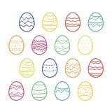 Αυγά Πάσχας περιλήψεων καθορισμένα στοκ φωτογραφία με δικαίωμα ελεύθερης χρήσης