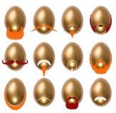 Αυγά Πάσχας που διακοσμούνται με τα hipsters Στοκ εικόνες με δικαίωμα ελεύθερης χρήσης