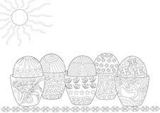 Αυγά Πάσχας που καλύπτονται στα σχέδια ελεύθερη απεικόνιση δικαιώματος