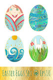 αυγά Πάσχας που τίθενται επίσης corel σύρετε το διάνυσμα απεικόνισης Στοκ Εικόνες