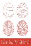 Αυγά Πάσχας που τίθενται με το σχέδιο επίσης corel σύρετε το διάνυσμα απεικόνισης Στοκ εικόνα με δικαίωμα ελεύθερης χρήσης