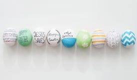 αυγά Πάσχας που τίθενται Στοκ εικόνα με δικαίωμα ελεύθερης χρήσης