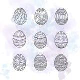 αυγά Πάσχας που τίθενται Στοκ Εικόνα