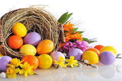 αυγά Πάσχας που χρωματίζονται Στοκ φωτογραφία με δικαίωμα ελεύθερης χρήσης