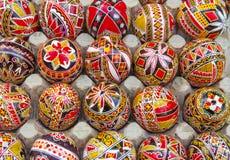 αυγά Πάσχας που χρωματίζονται Στοκ εικόνα με δικαίωμα ελεύθερης χρήσης