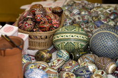 αυγά Πάσχας που χρωματίζονται Στοκ Εικόνες