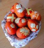 αυγά Πάσχας που χρωματίζονται Στοκ φωτογραφίες με δικαίωμα ελεύθερης χρήσης