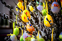 αυγά Πάσχας που χρωματίζονται Στοκ εικόνες με δικαίωμα ελεύθερης χρήσης