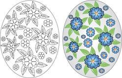 Αυγά Πάσχας που χρωματίζουν τις σελίδες καθορισμένες Στοκ Φωτογραφίες