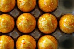 αυγά Πάσχας που χρωματίζο Στοκ Εικόνες