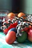 αυγά Πάσχας που χρωματίζο Στοκ εικόνα με δικαίωμα ελεύθερης χρήσης