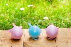Αυγά Πάσχας σε έναν ξύλινο πίνακα Στοκ Εικόνες