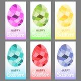 Αυγά Πάσχας σε ένα polygonal ύφος ελεύθερη απεικόνιση δικαιώματος