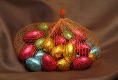 αυγά Πάσχας σοκολάτας τ&sigm στοκ εικόνες