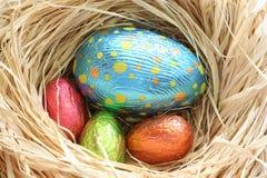 αυγά Πάσχας σοκολάτας Στοκ εικόνα με δικαίωμα ελεύθερης χρήσης