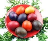 Χρωματισμένα αυγά Στοκ εικόνες με δικαίωμα ελεύθερης χρήσης