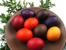 Χρωματισμένα αυγά Στοκ Φωτογραφίες