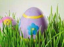 Αυγά Πάσχας στη χλόη Στοκ φωτογραφία με δικαίωμα ελεύθερης χρήσης