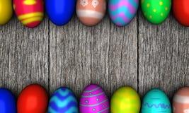 Αυγά Πάσχας στο παλαιό ξύλινο υπόβαθρο Στοκ φωτογραφίες με δικαίωμα ελεύθερης χρήσης