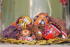 αυγά Πάσχας σύνθεσης Στοκ εικόνες με δικαίωμα ελεύθερης χρήσης