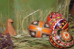 αυγά Πάσχας σύνθεσης Στοκ φωτογραφία με δικαίωμα ελεύθερης χρήσης