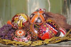 αυγά Πάσχας σύνθεσης στοκ εικόνες