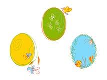 αυγά Πάσχας τρία Στοκ φωτογραφία με δικαίωμα ελεύθερης χρήσης