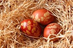 αυγά Πάσχας τρία Στοκ εικόνες με δικαίωμα ελεύθερης χρήσης