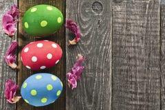 αυγά Πάσχας τρία Στοκ φωτογραφίες με δικαίωμα ελεύθερης χρήσης