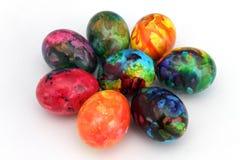 Αυγά Πάσχας Χειροποίητα χρωματισμένα αυγά για τον εορτασμό Πάσχας που απομονώνεται στο άσπρο υπόβαθρο Πάσχα χρωματισμένα αυγά Πάσ Στοκ Εικόνες