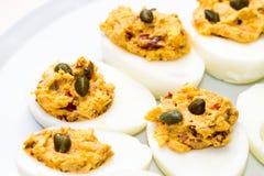αυγά που γεμίζουν Στοκ Φωτογραφία