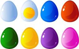 αυγά που τίθενται διανυσματική απεικόνιση