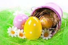 αυγά που χρωματίζονται στοκ φωτογραφία με δικαίωμα ελεύθερης χρήσης