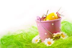 αυγά που χρωματίζονται στοκ φωτογραφία