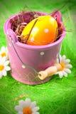 αυγά που χρωματίζονται στοκ εικόνα με δικαίωμα ελεύθερης χρήσης