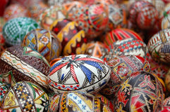 αυγά που χρωματίζονται Στοκ φωτογραφίες με δικαίωμα ελεύθερης χρήσης
